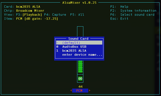 Using a USB Audio Interface with Rasberry Pi and PureData